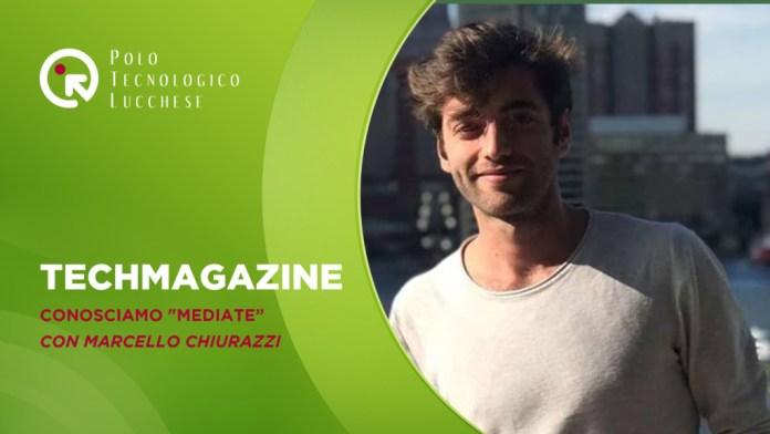 copertina della puntata con titolo e foto dell'ospite ossia Marcello Chiurazzi